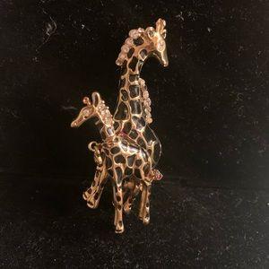 St. John Giraffe Brooch